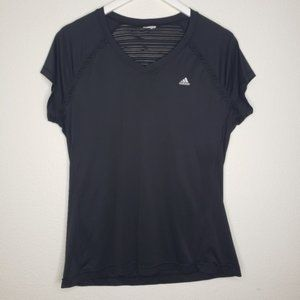 Adidas Black Short Sleeve Climacool Workout Top
